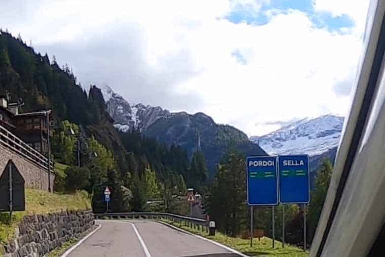 Great Dolomites Road route planner- Pordoi or Sella Pass