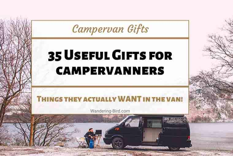 Campervan Gifts- the best practical  and most useful Campervan Gift ideas for vanlifers and campervan owners