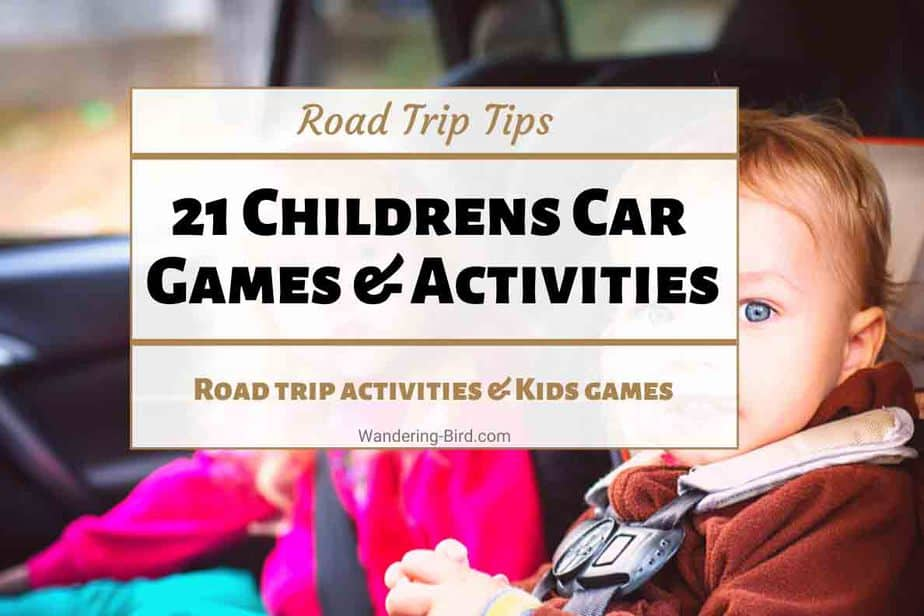 Childrens Car Games Road Trip activities