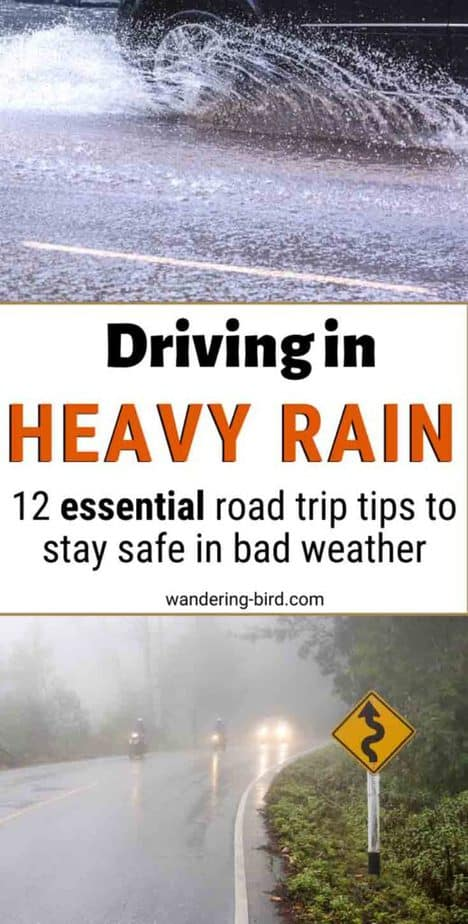 Driving in the rain safety tips- tips & safety precautions for driving in heavy rain