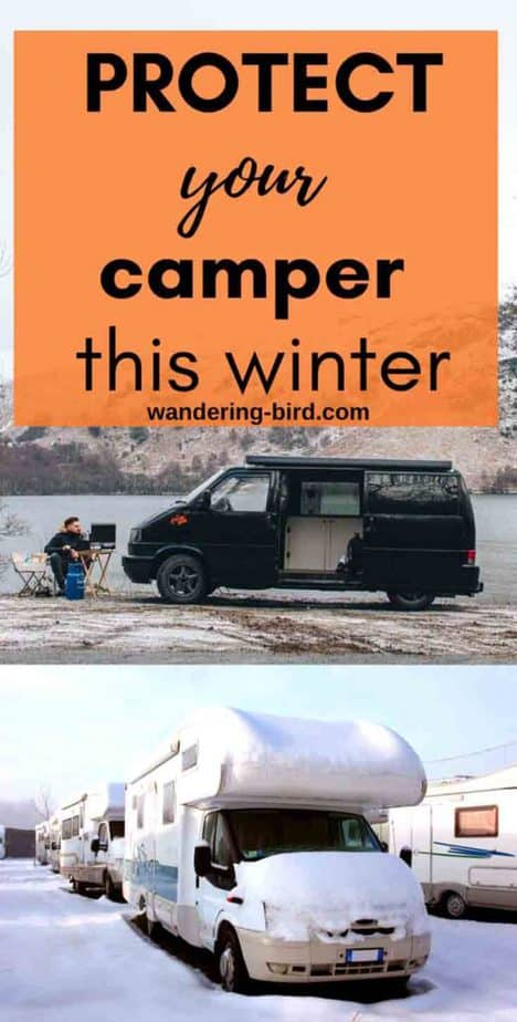 Protect your camper this winter- tips for winterising your motorhome before winter storage