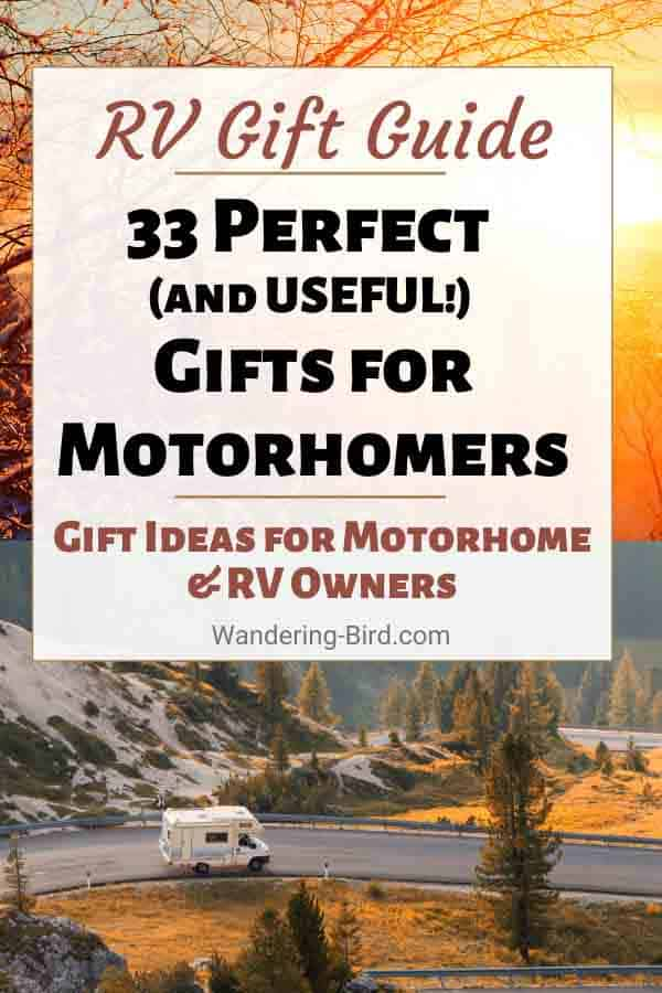 Motorhome & RV Gift Guide- find the perfect gift ideas for motorhomers and RV owners