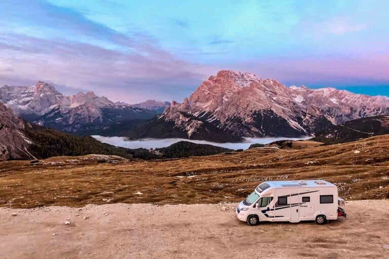 Motorhome touring in Italy