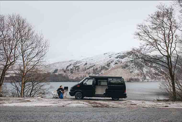 Winter campervan tips- You can absolutely use your campervan or motorhome all year. But if dont, make sure you drain it properly before winter storage.