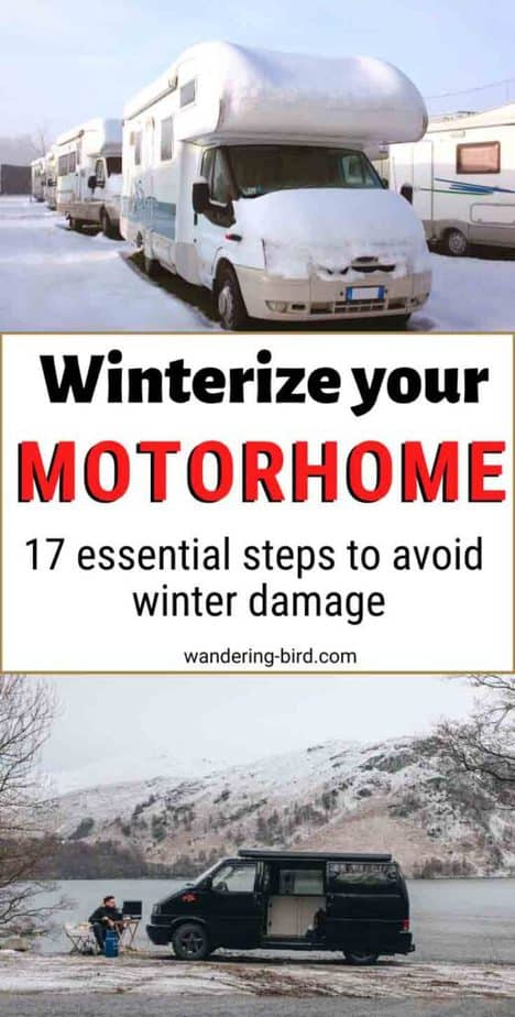 How to winterize your motorhome and prepare camper for winter storage