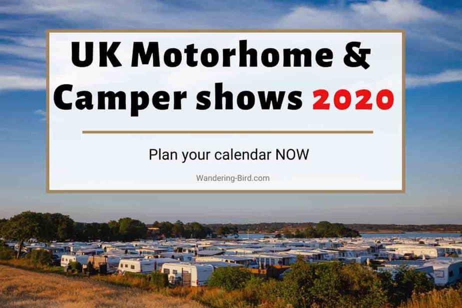 Motorhome Shows 2020- motorhome campervan caravan and camping shows in UK in 2020