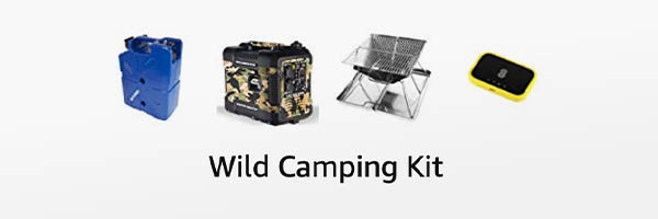 Essential motorhome accessories for wild camping with a camper or motorhome
