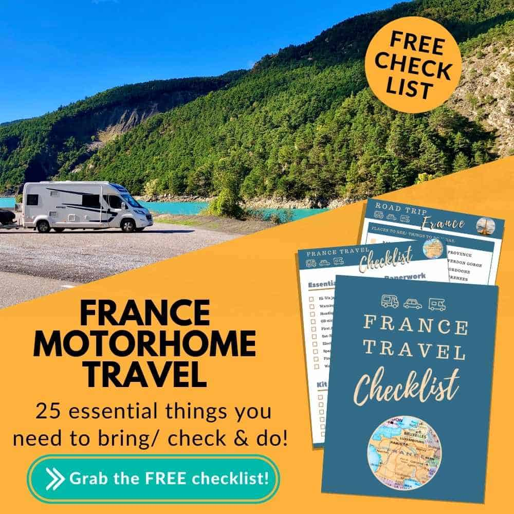 Motorhoming in France free Checklist