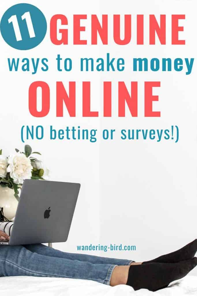 Looking for legit ways to make money from home online? NEED or want to work from home and earn some extra cash- fast. These 11 genuine ideas to earn money will really help- pick one and get started earning more money online.