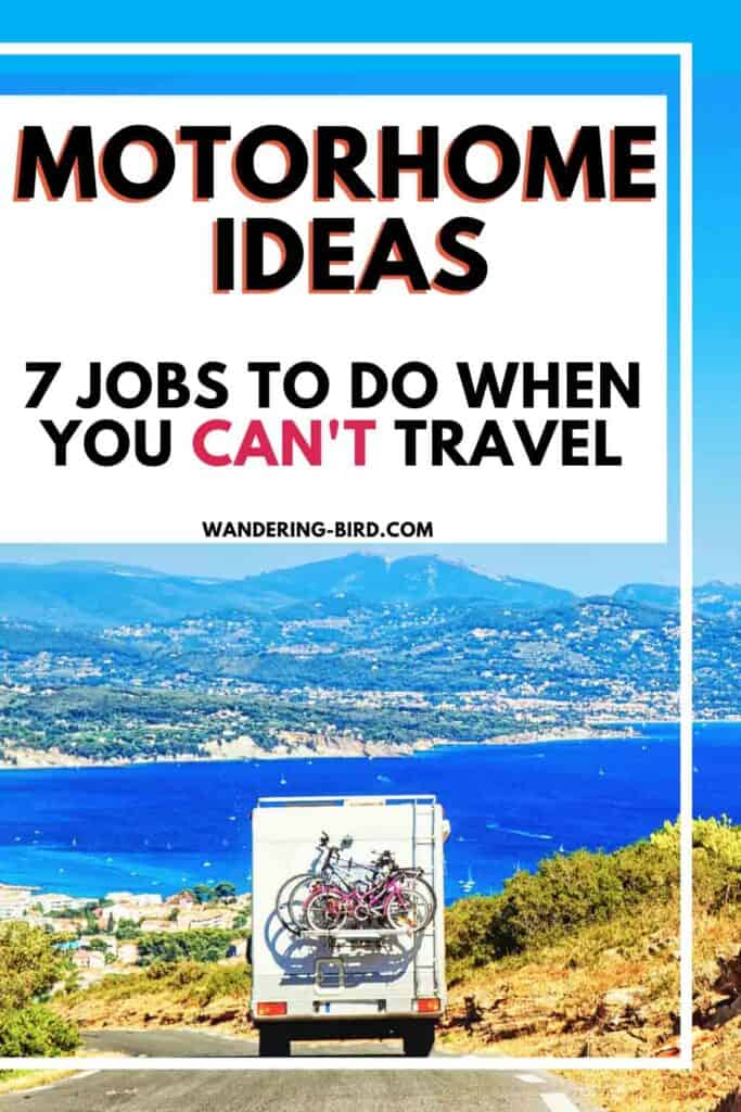 Motorhome ideas- jobs to do before your next trip. Storage ideas and organisation hacks for your motorhome, camper or RV