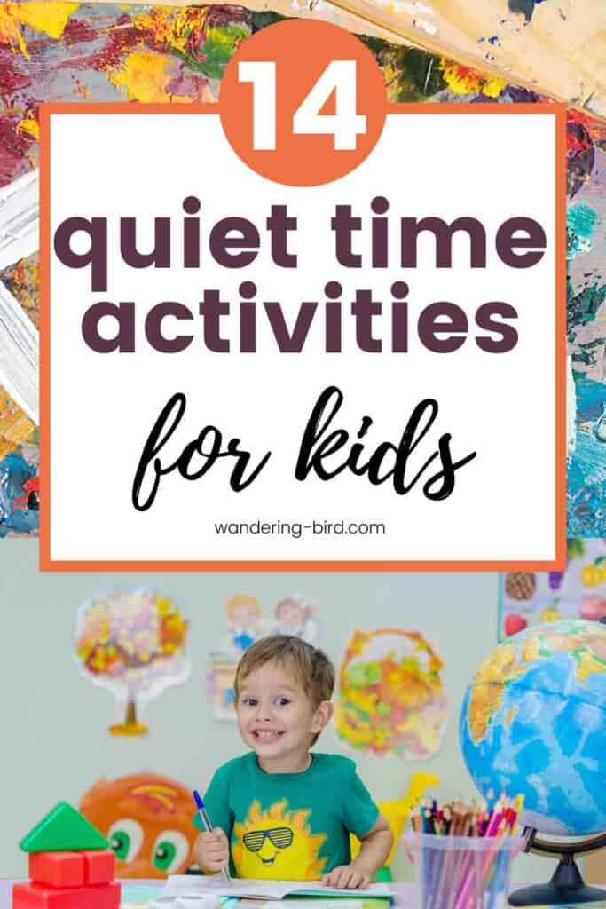 Looking for quiet time activities for kids, tweens and teenagers? Here are 14 ideas things to do when you need a moment to yourself! Quiet time activities for kids | Quiet things to do for children | Independent activities for tweens