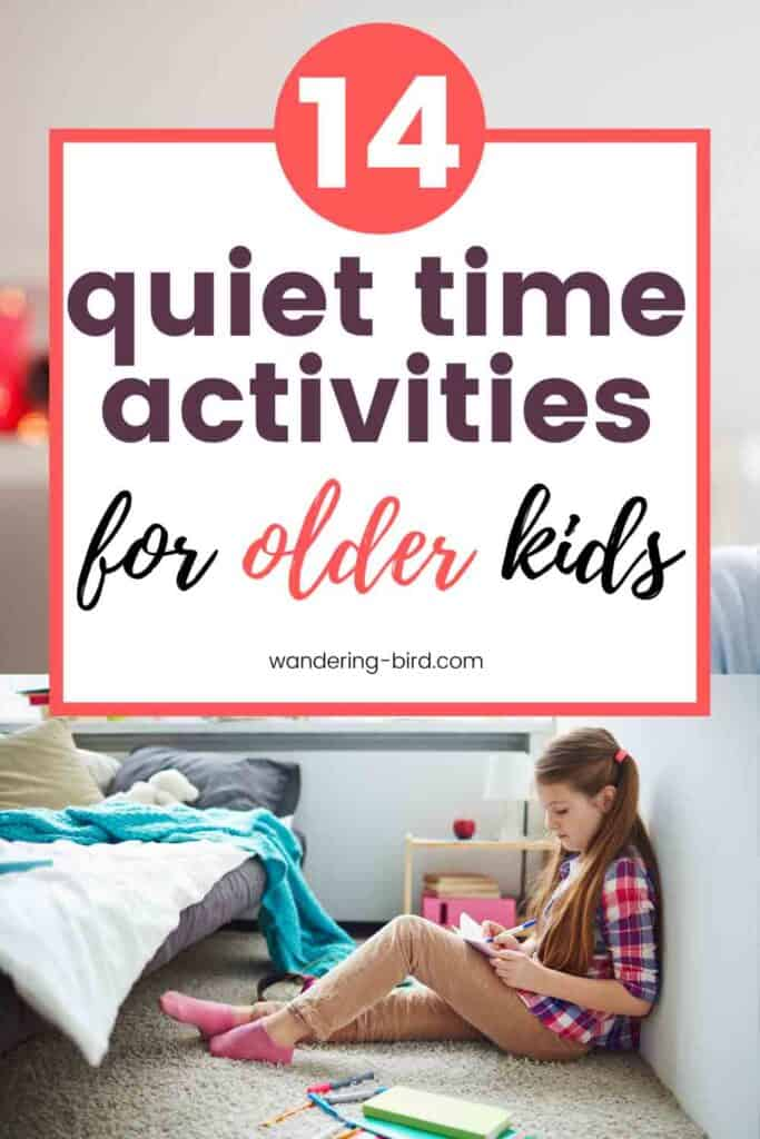 Need quiet time activities for older kids, tweens and teenagers? Looking for ideas for independent things they can do so YOU can get stuff done- or get 2 minutes to yourself!! These are perfect quiet activities for kids for any time of the day.