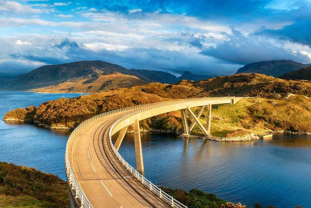 Ecosse routes panoramiques et meilleurs itinéraires de conduite pour des excursions en voiture en Ecosse