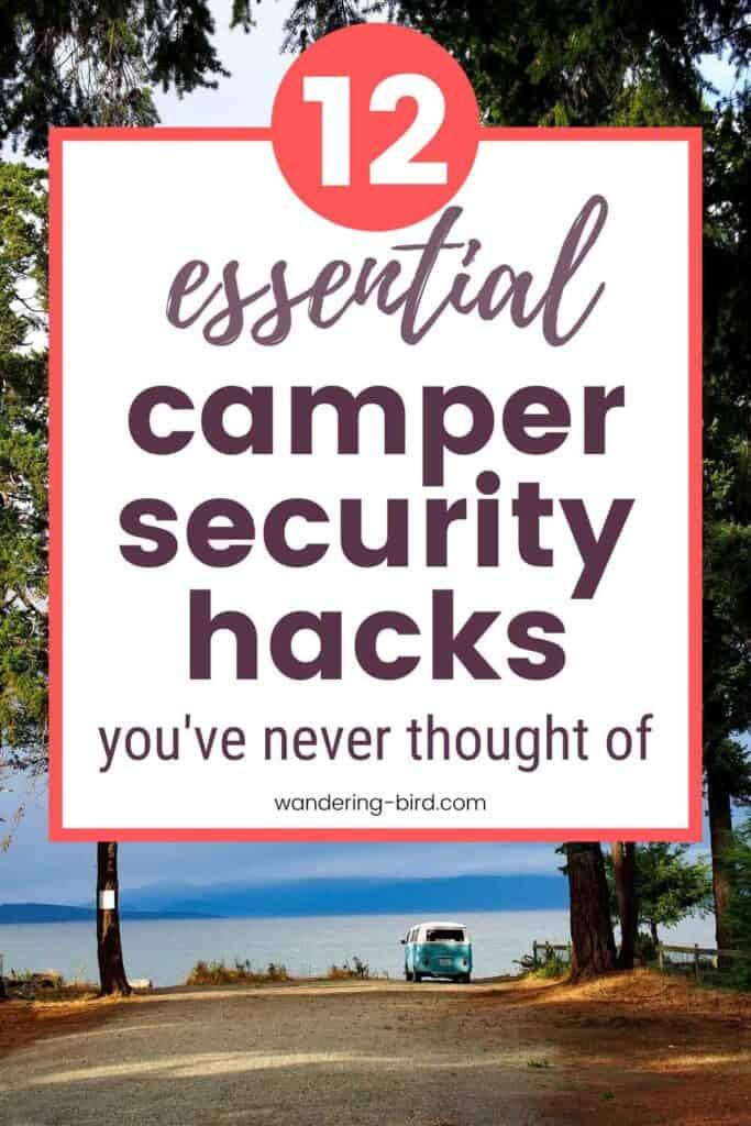 Sécurité des camping-cars, camping-cars et caravanes - ce que vous devez savoir.