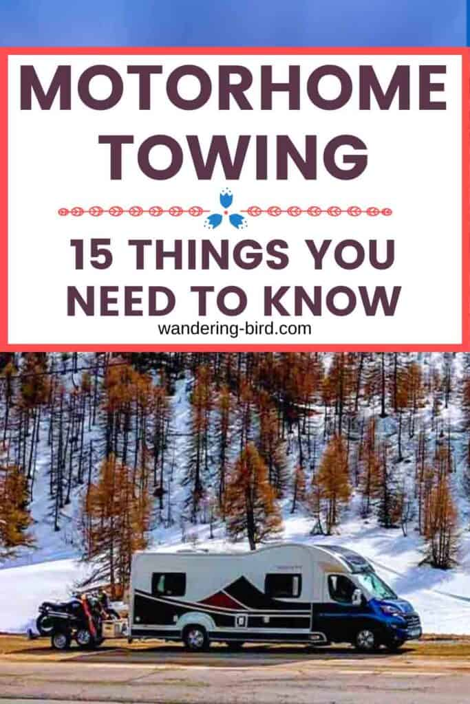 Motorhome Towing guide- essentials for towing with a motorhome