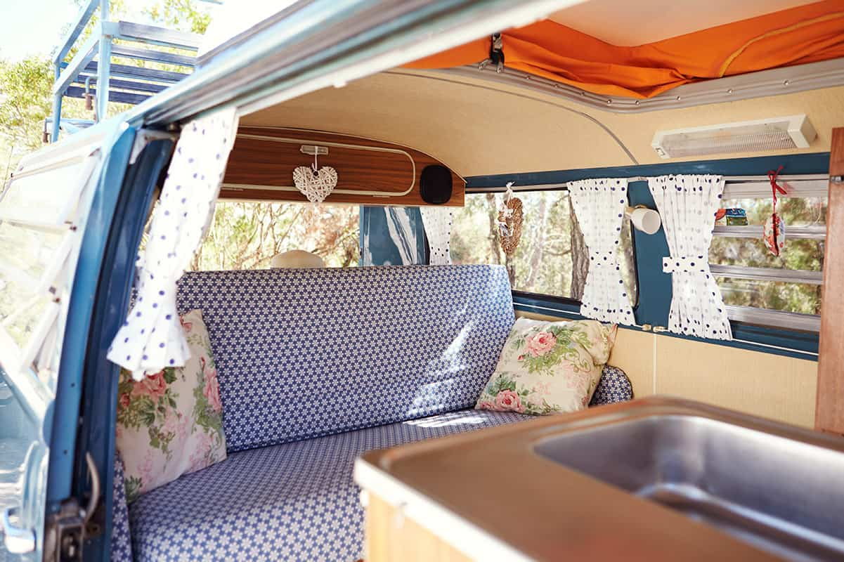 Camper makeover tips and hacks for RV motorhome or campervan remodels