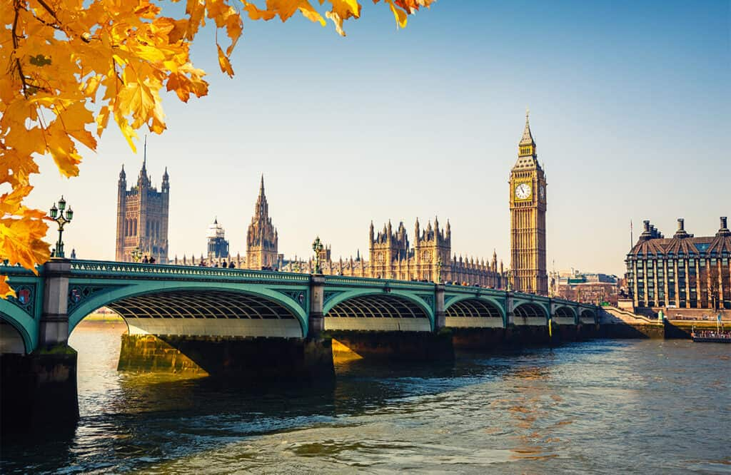 London- Autumn in Europe destination idea
