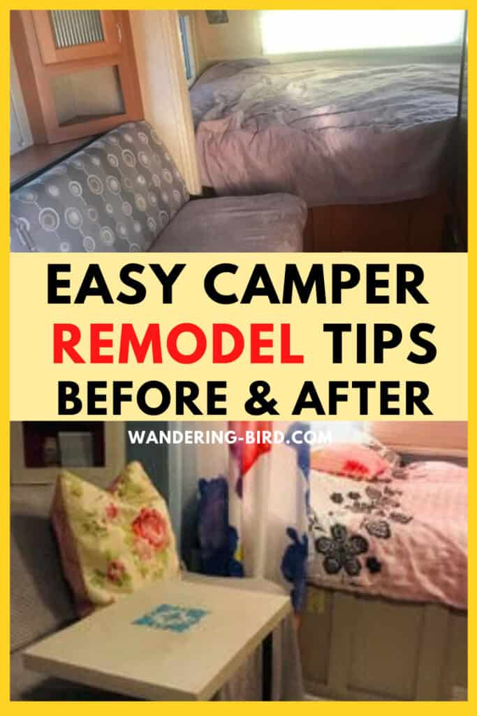 Easy Camper Makeover remodel tips- Before and After