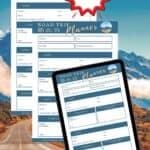 Best FREE road trip planner- printable travel planner pdf download