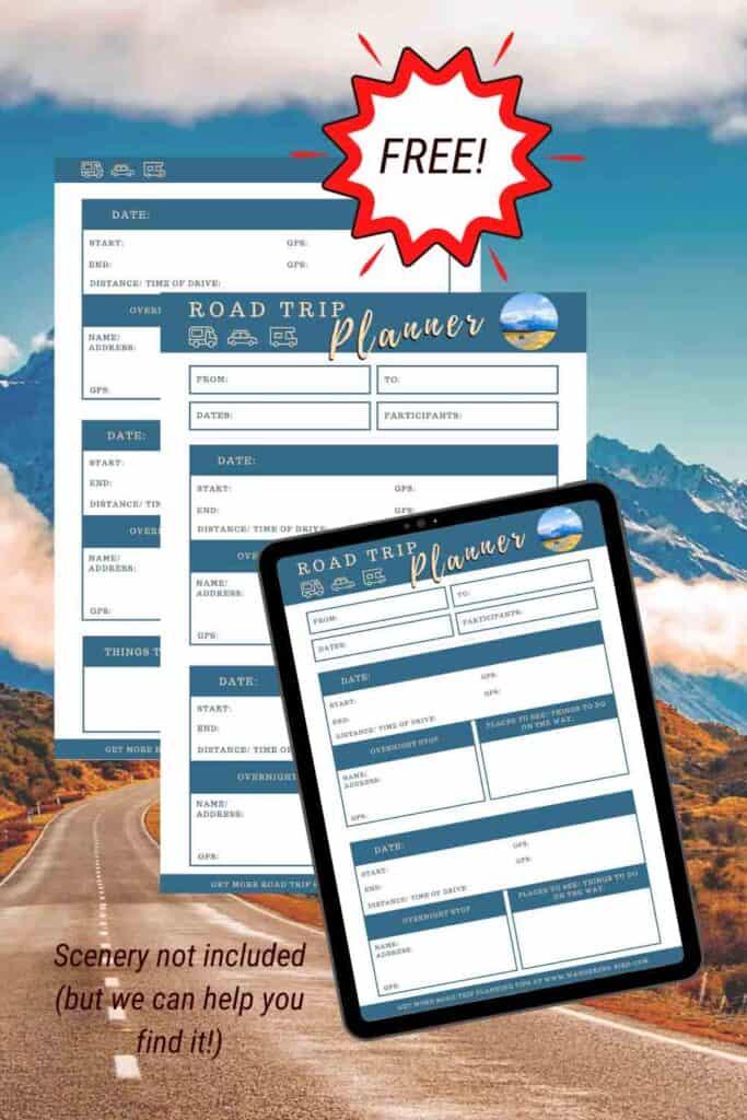 Best printable road trip planner- free travel planner printable pdf