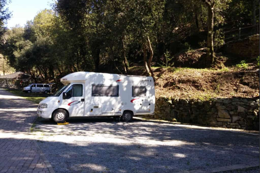 Motorhome campsite in Italy- 5 of the best places to visit in Italy with a camper van or motorhome and the best campgrounds in Italy to stay at for a great camper van holiday in Italy
