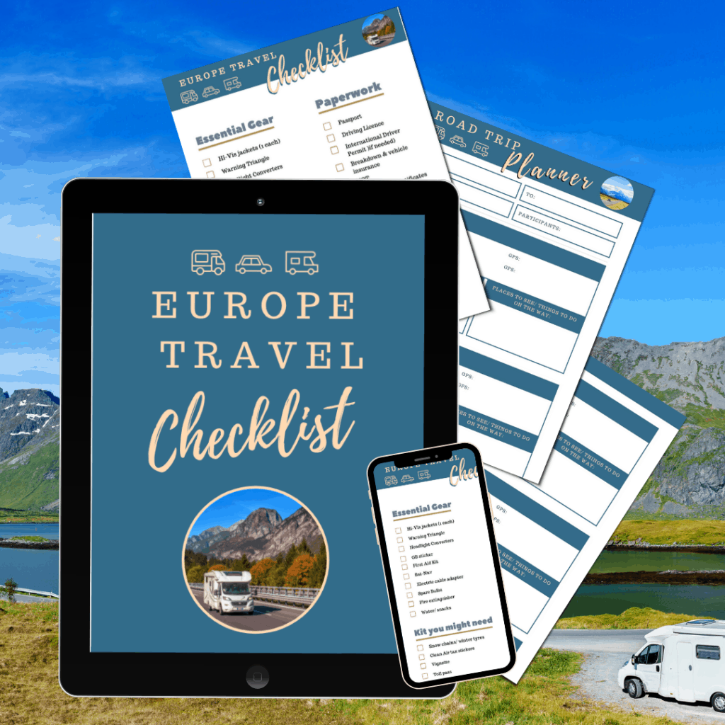 Europe Motorhome travel- free checklists