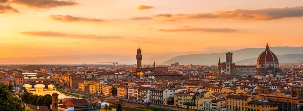 Florence- Campervanning in Italy- 5 of the best places to visit in Italy with a camper van or motorhome and the best campgrounds in Italy to stay at for a great camper van holiday in Italy