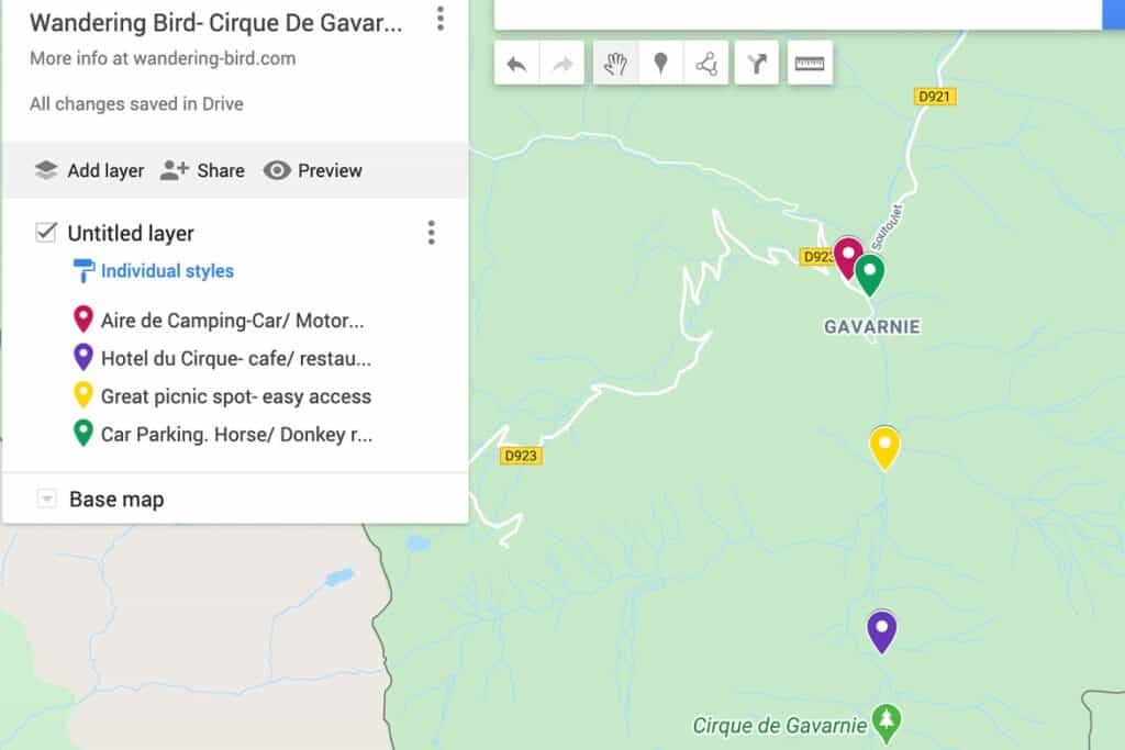 Map of Cirque de Gavarnie- complete guide to visiting. Pyrenees road trip and things to do at the Cirque de Gavarnie. With map