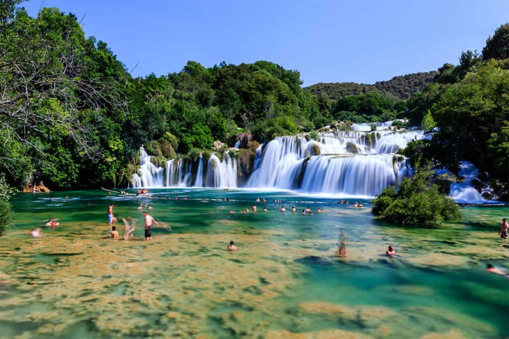 Krka waterfalls- one of the best waterfalls in Europe