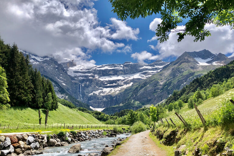 Cirque de Gavarnie- complete guide to visiting. Pyrenees road trip and things to do at the Cirque de Gavarnie. With map