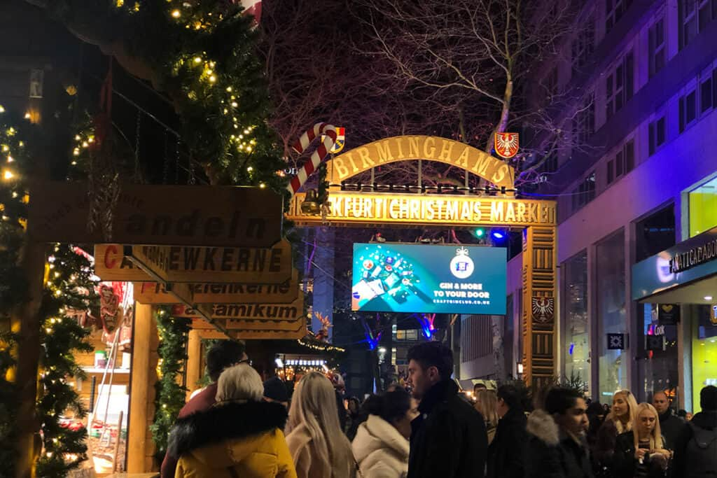 Birmingham- one of the UK's best Christmas Markets