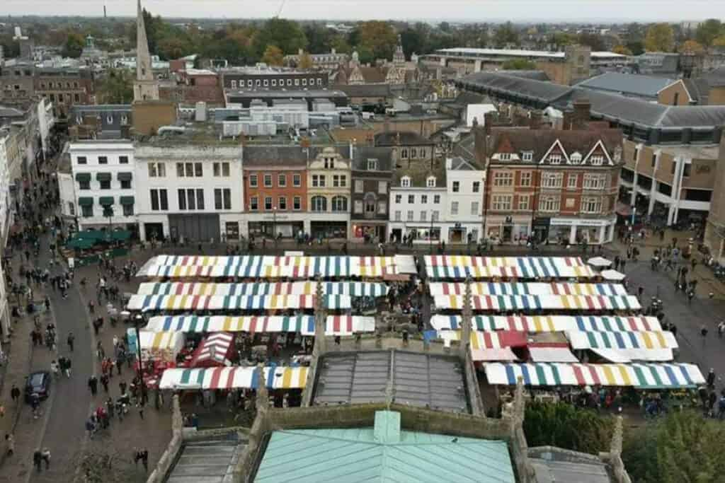 Cambridge- one of the UK's most traditional Christmas markets
