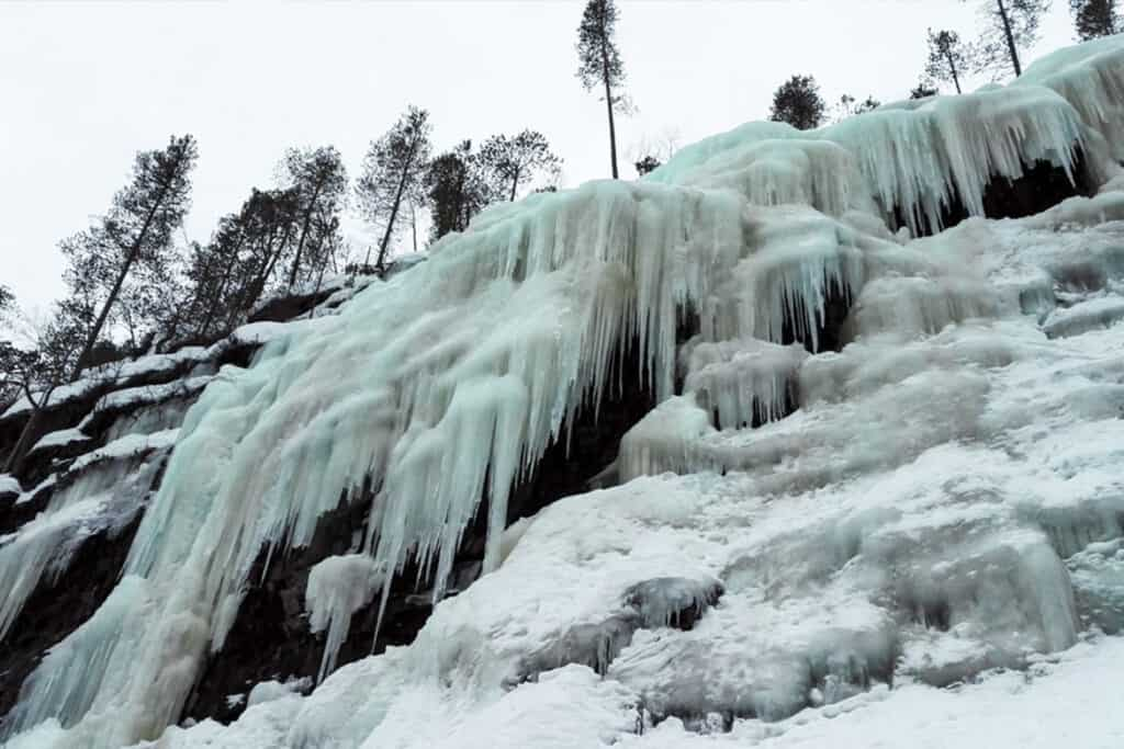 Korouoma Canyon- frozen waterfall in Finland