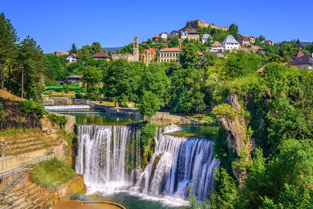 Pliva waterfall- unique waterfall in Europe