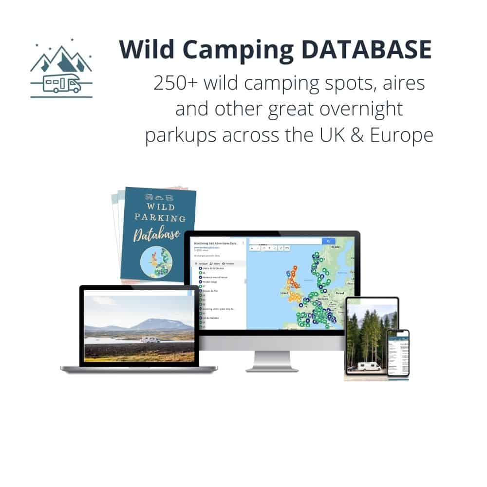 Wild Camping Database Motorhome guide and ebook from Wandering Bird Motorhome Travel Blog