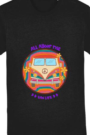 Vanlife campervan tshirt