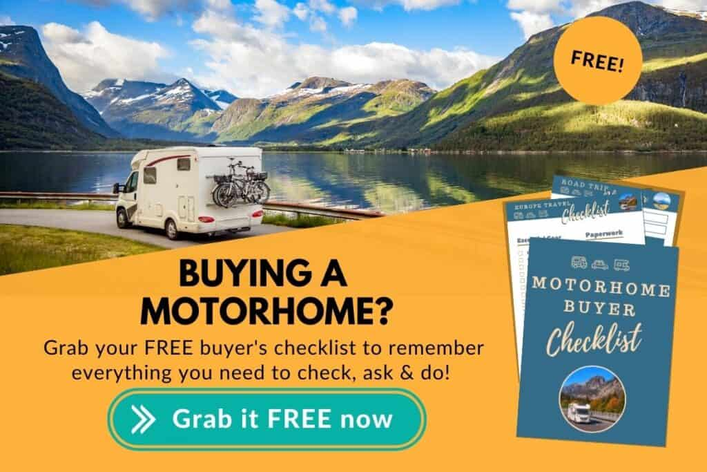 Buying Motorhome checklist
