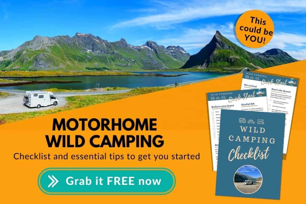 motorhome wild camping checklist