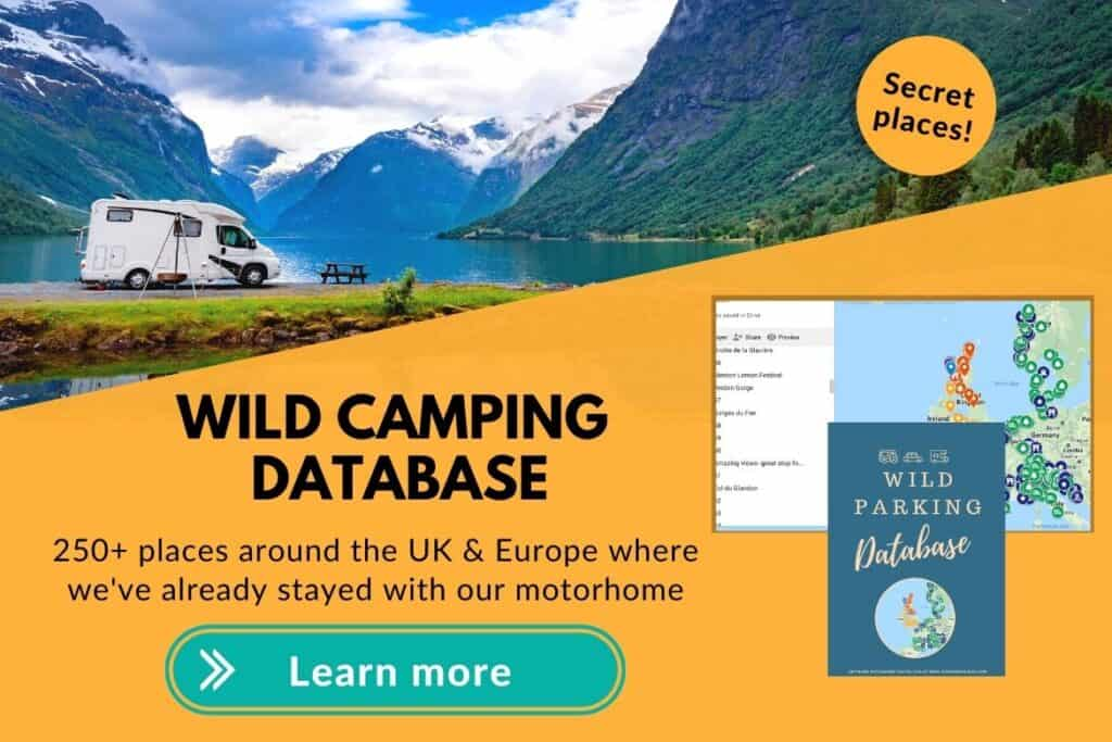 motorhome wild camping database