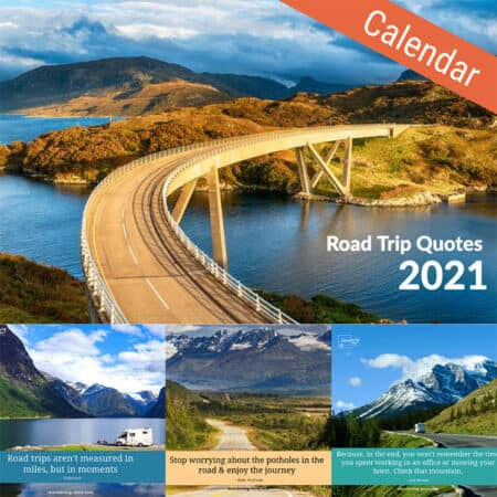 Road Trip Quotes Calendar by Wandering Bird