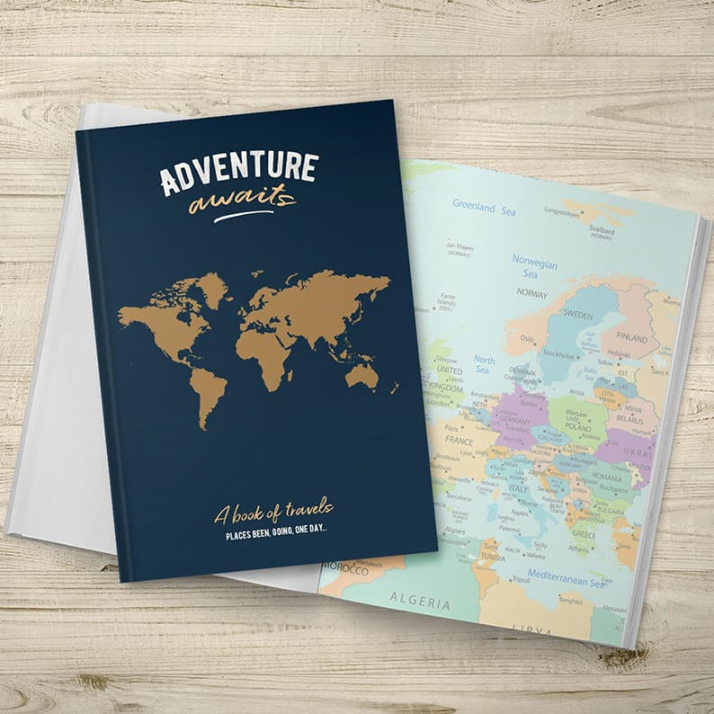 travel logbooks, motorhome journals, camper diaries and road trip logs
