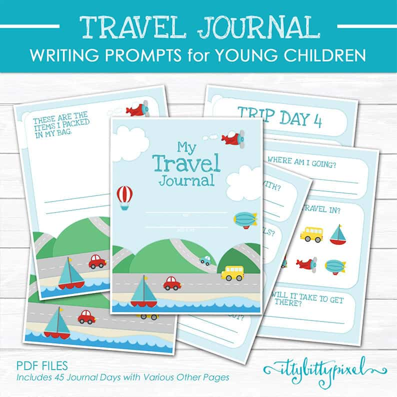 travel journal children diary road trip