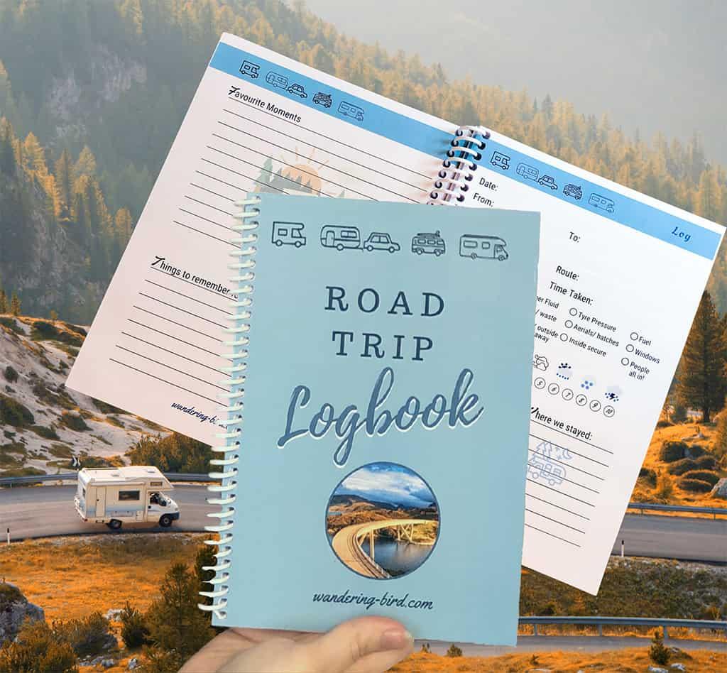 road trip journal logbooks- motorhome, RV, camper, car road trip