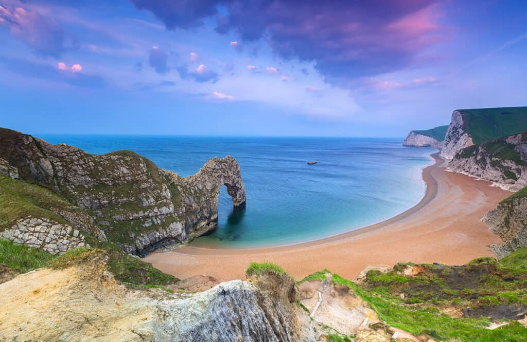 UK Motorhome holiday destination- Durdle Door, Dorset