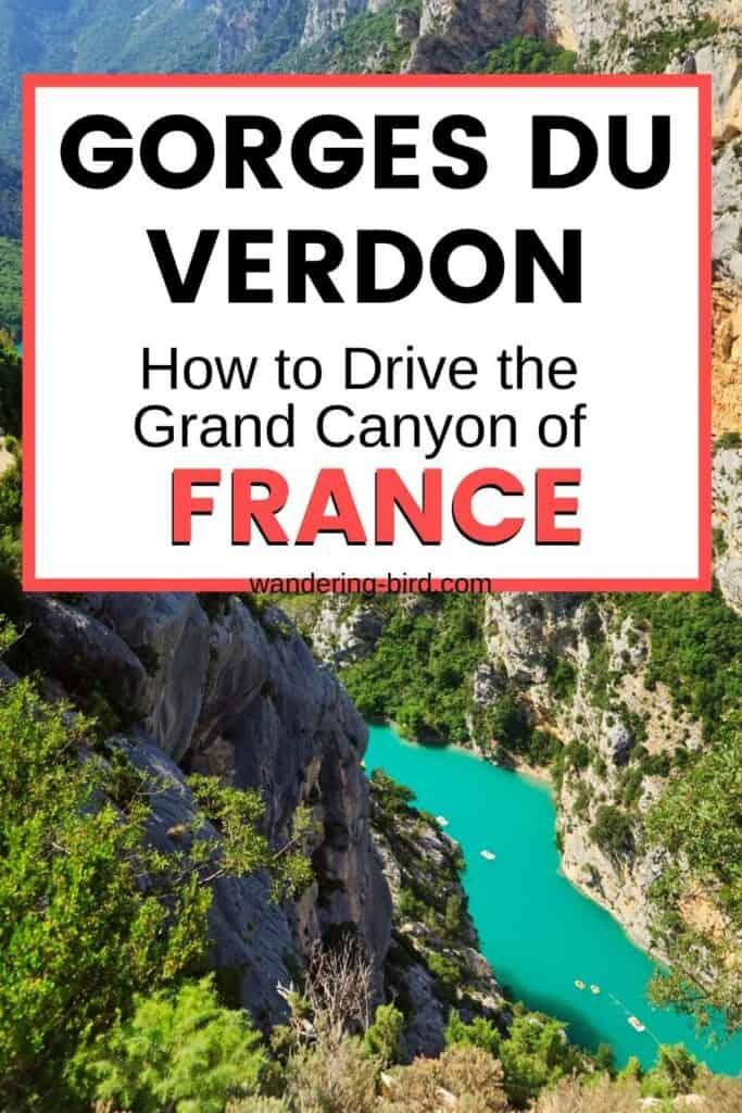 Driving the Gorges du Verdon in France