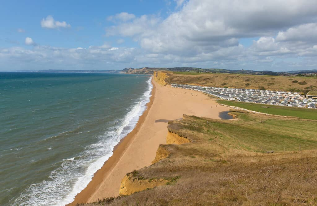 Freshwater Bay- one of the best places to visit on a Dorset Road Trip