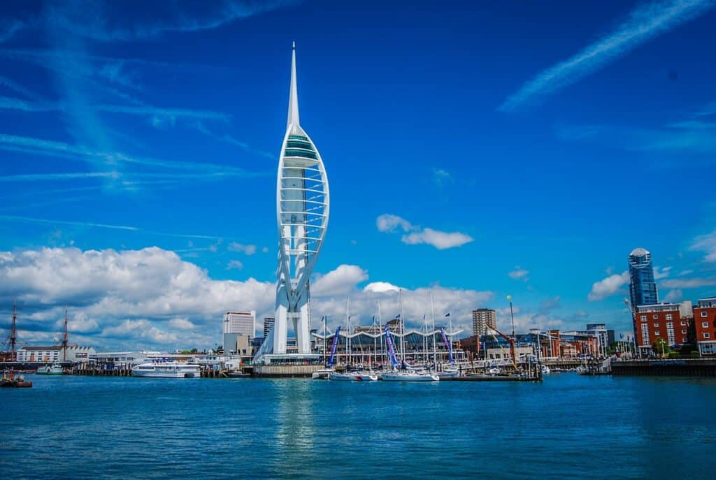 Spinnaker Tower & Portsmouth Harbour- one of the most historic places to visit in Hampshire- Hampshire Road Trip itinerary