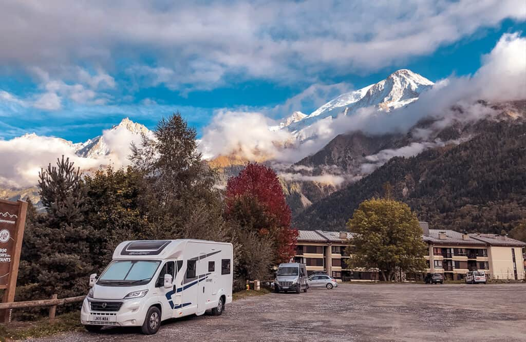 motorhome aire Europe France Chamonix Mont Blanc FREE overnight stopover camper