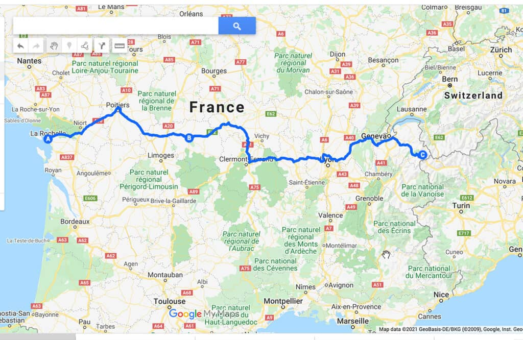 Best Motorhome route to Italy through France- La Rochelle to Chamonix Tunnel and Italian Border