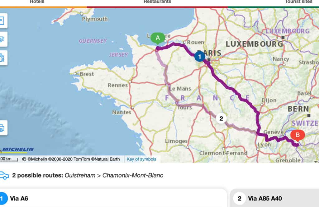 Best Motorhome route to Italy through France- Caen to Chamonix Tunnel and Italian Border